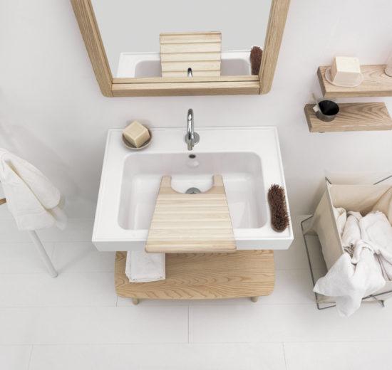TRIX: IL BAGNO SECONDO COLAVENE Stile contemporaneo e materiali naturali per la nuova collezione dell'azienda